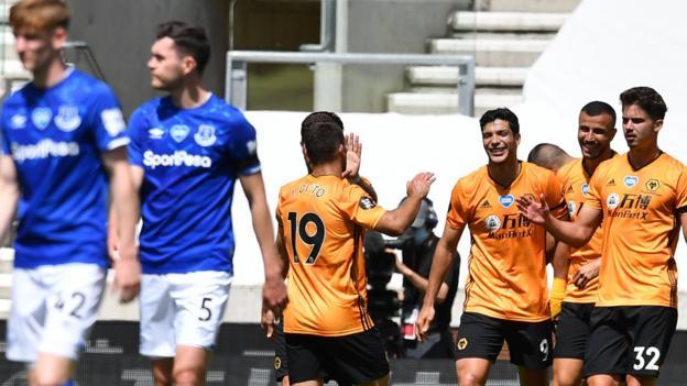 Wölfe 3: 0 Everton: Gastgeber steigern die Hoffnungen der Champions League