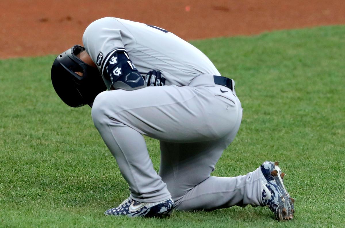 Yankees 'Gleyber Torres' Tag für Tag ', nachdem er am Ellbogen getroffen wurde