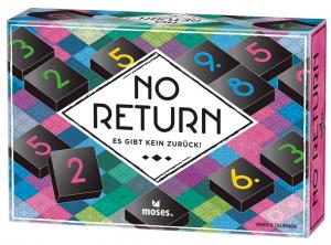 No Return – Es gibt kein Zurück!   Lege- und Sammelspiel für die ganze Familie   Mit 132 hochwertigen Spielsteinen