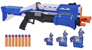 Hasbro Nerf E7065EU4 TS Pump-Action Blaster, 8 Nerf Mega Fortnite Darts, Dartaufbewahrungsfach – Für Jugendliche und Erwachsene