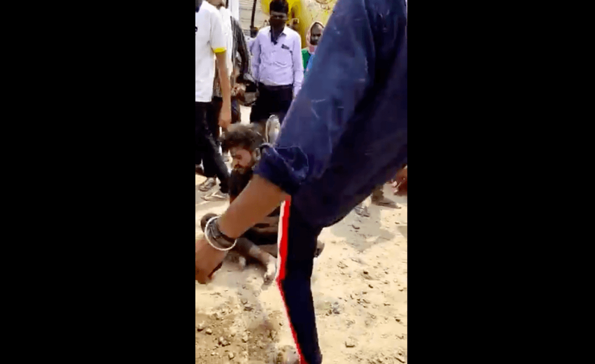 mob attacks man