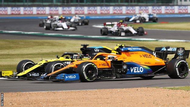 Daniel Ricciardo und Lando Norris