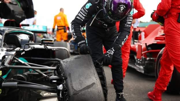 Lewis Hamilton gewinnt den Grand Prix von Großbritannien nach einer Reifenpanne in der letzten Runde