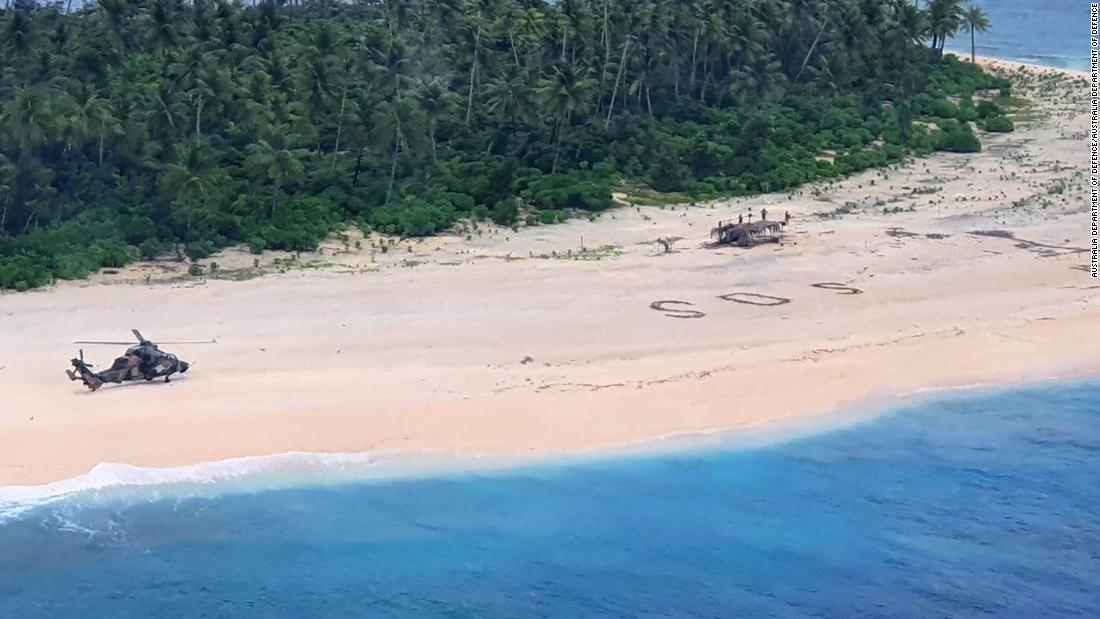 'SOS' im Sand rettet Seeleute in Mikronesien