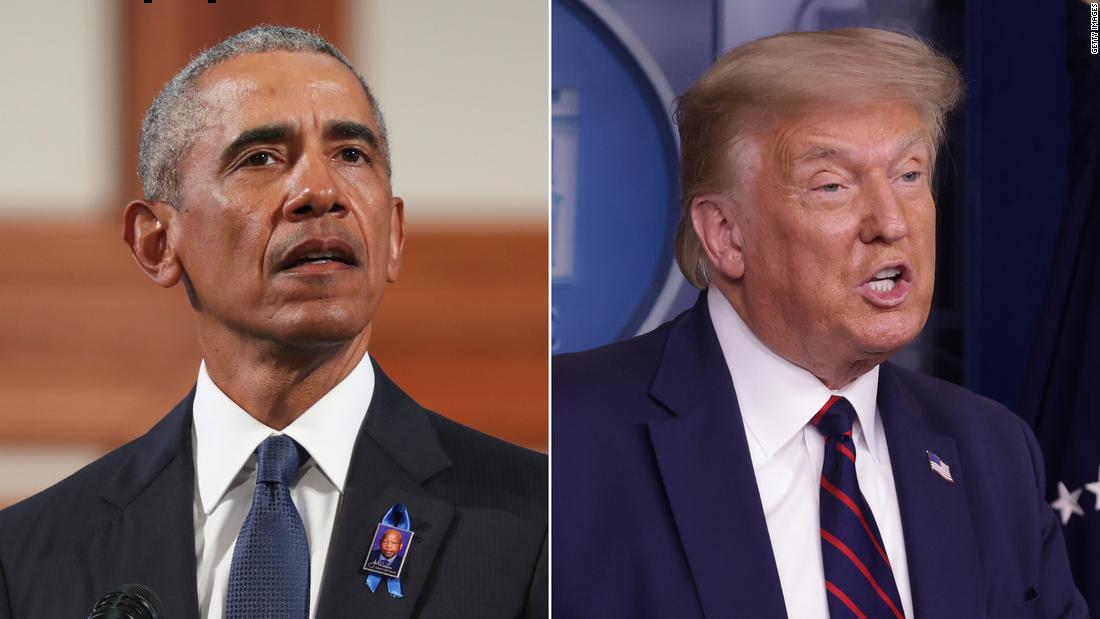 Trump zerstört Obamas Lewis-Laudatio, die auf Stimmrechte drängte