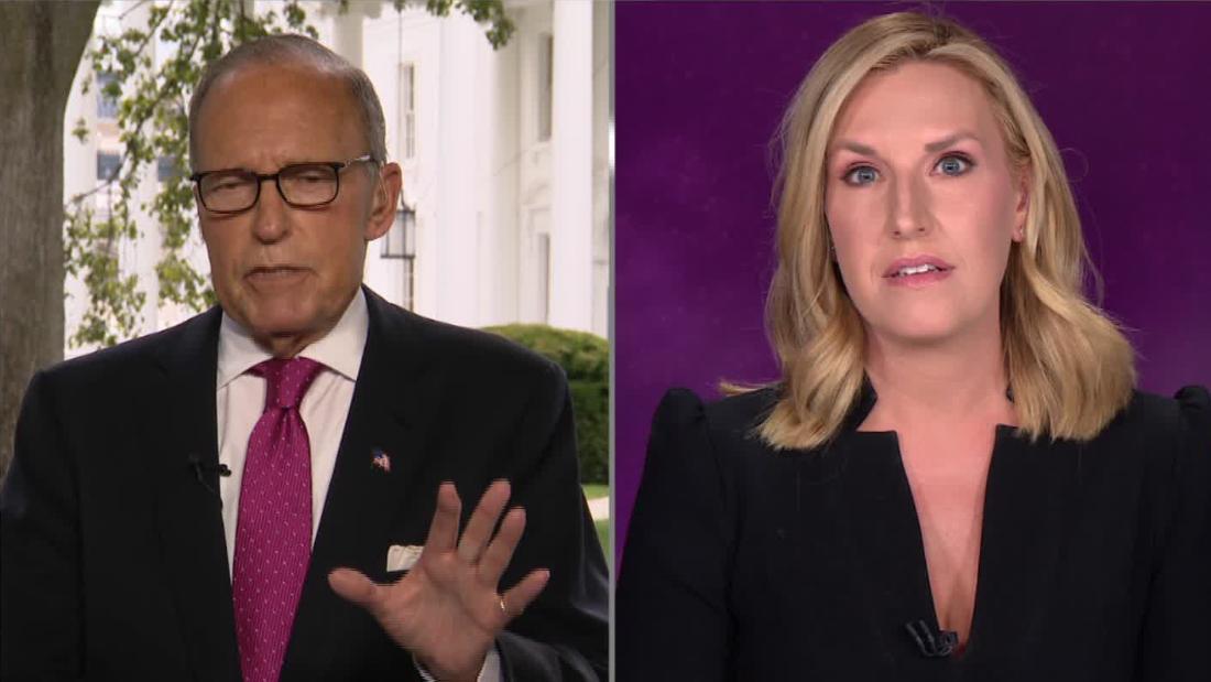 In einem hitzigen Austausch konfrontiert Poppy Harlow von CNN Trumps Top-Wirtschaftsberater Larry Kudlow
