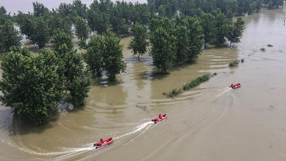 Extreme flooding inundates China