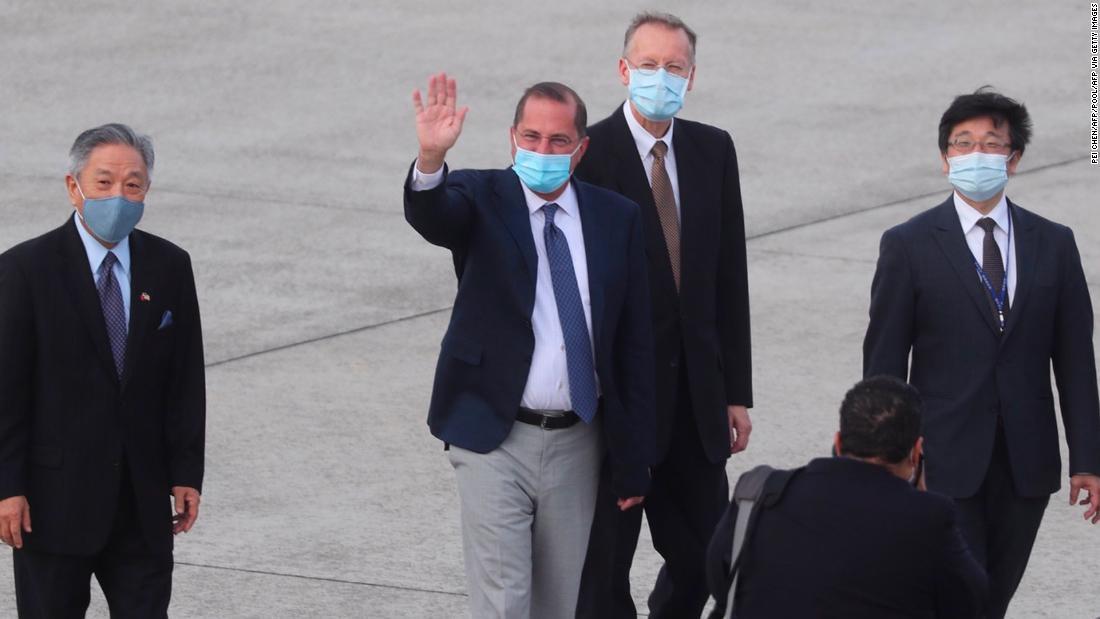 Der führende US-Gesundheitsbeamte trifft sich mit dem taiwanesischen Präsidenten Tsai Ing-wen