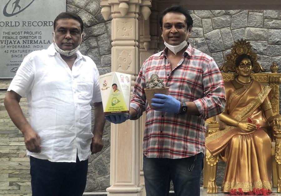 Naresh showing MP Santosh Kumar