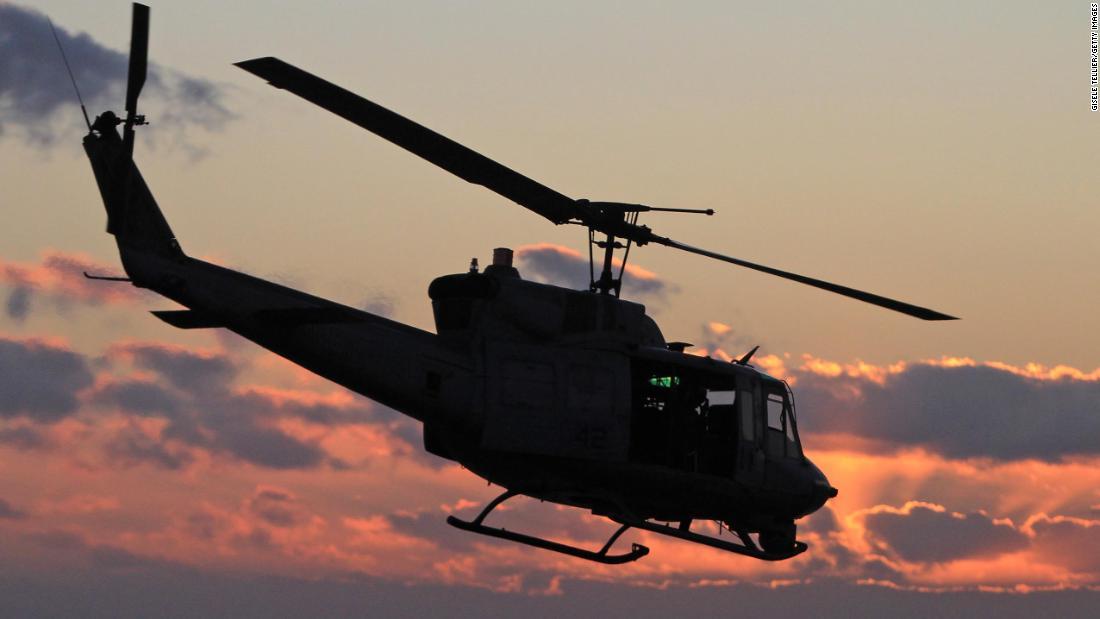 Militärhubschrauber schoss über Virginia und verletzte ein Besatzungsmitglied