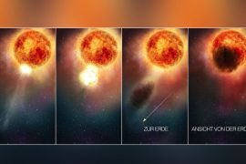 Vorbote einer Supernova? Staubwolken verdeckten die Riesenplaneten