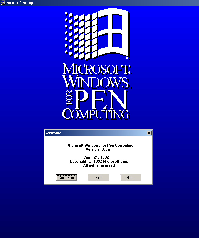 Microsoft Windows für die Stiftberechnung 1.0