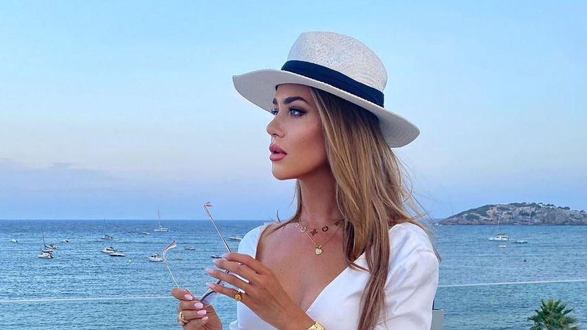 Jessica Paszka im August 2020 auf Ibiza