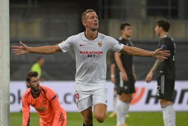 Europa League: Luuk De Jong trifft für Sevilla FC gegen Manchester United