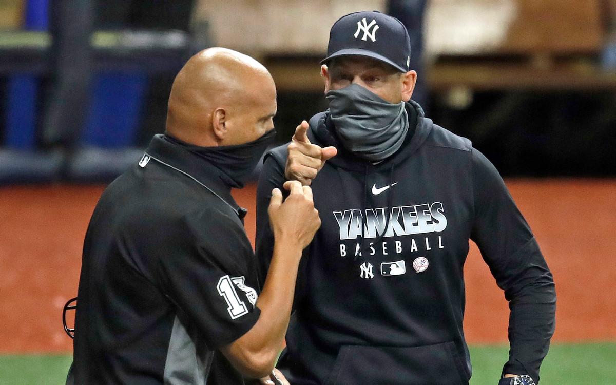 """In Yankees 'Aaron Boones Auswurf: """"Nur über die Geschichte"""""""