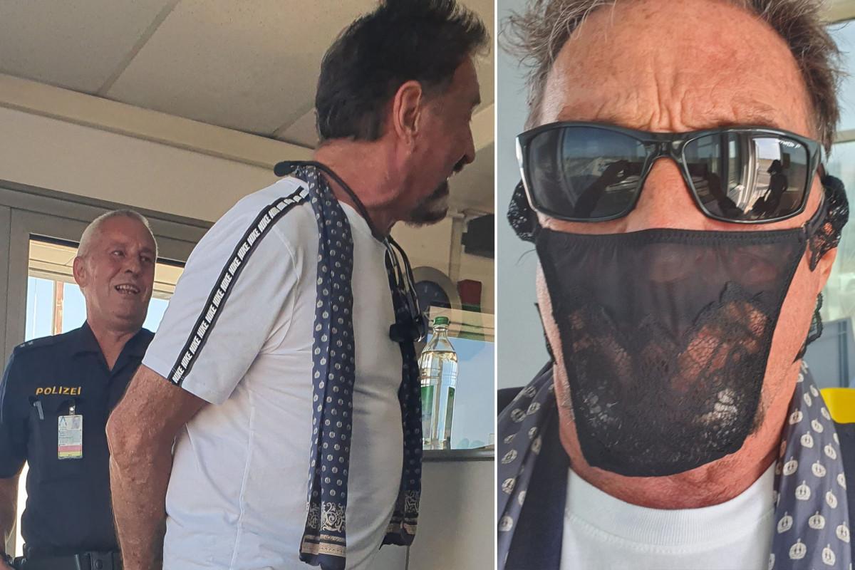 John McAfee wurde offenbar verhaftet, weil er anstelle einer Gesichtsmaske einen Tanga trug