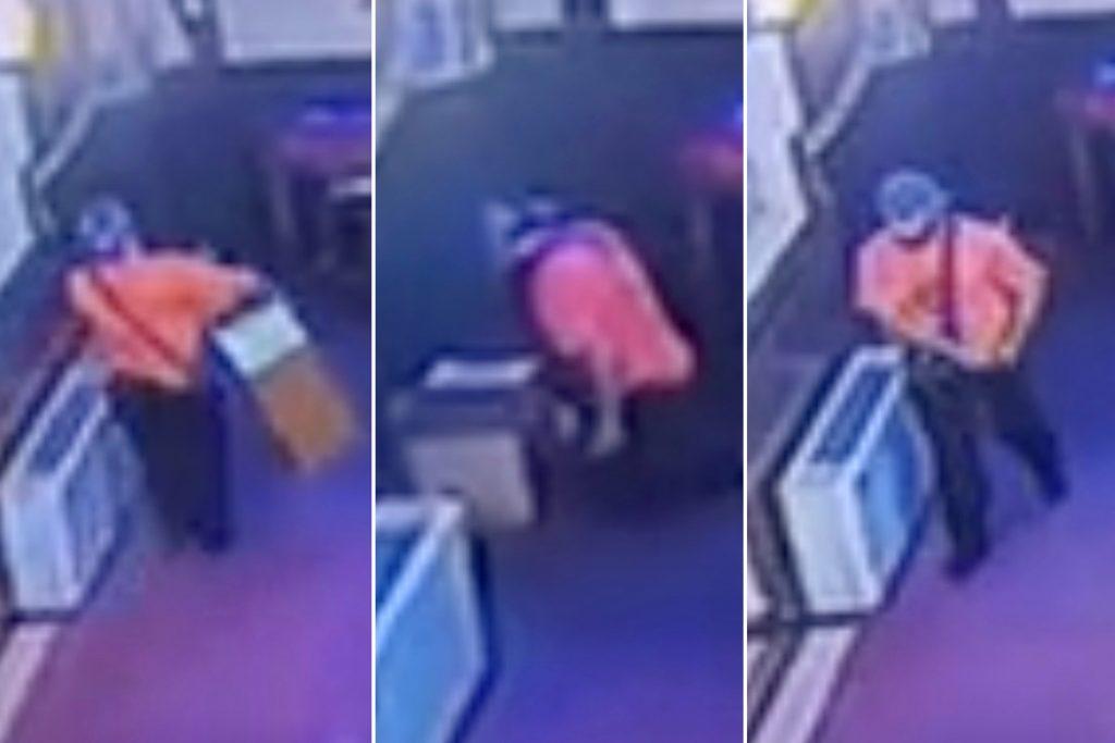 Mann stiehlt Sammelbox Bargeld von Park Slope Kirche: Video