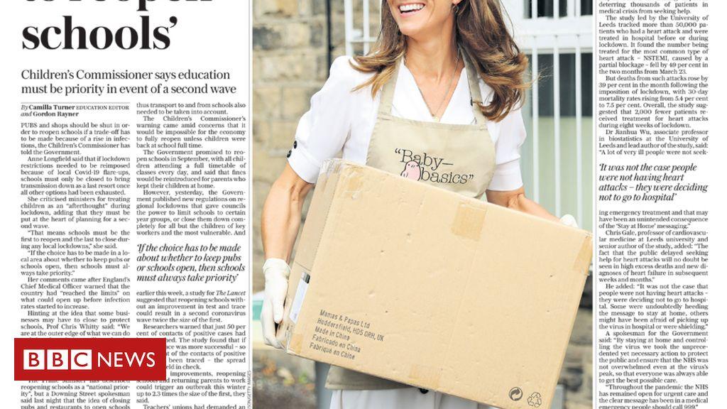 """Schlagzeilen in der Zeitung: Kate ist """"majestätisch in einer Maske"""" und Beirut in """"Qual"""""""