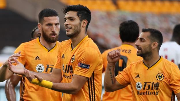 Wolverhampton Wanderers 1: 0 (2: 1) Olympiakos: Das Tor von Raul Jimenez schickt die Wölfe auf die letzten acht