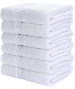Utopia Towels - 6er Pack Badetuch Set - Badetuch Handtücher, 60 x 120 cm (Weiß)
