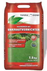 Schomaker Unkrautvernichter + Rasendünger, für Ihren Rasen und Garten, 7,5 KG NPK, zweifache Wirkung, auch gegen Klee, Sommer, Herbst, Frühling, 375m²