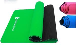 """Sportastisch Design Yogamatte """"Yoga Star"""" mit SGS-Zertifikat*, rutschfeste & 6mm dünne Gymnastikmatte mit 2-Lagen-Design"""