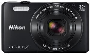 Nikon Coolpix S7000 Digitalkamera (16 Megapixel, 20-Fach Opt. Zoom, 7,6 cm (3 Zoll) LCD-Display, USB 2.0, bildstabilisiert) schwarz